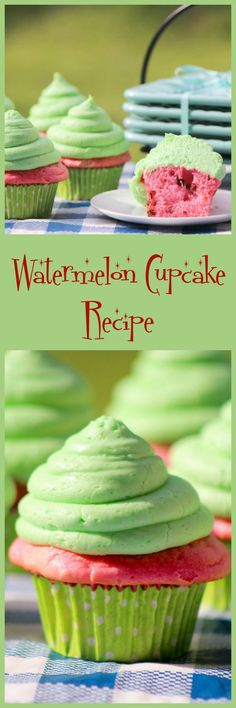 Looking for a fun cupcakes recipe to make with your BFFs? Check out these beautiful watermelon cupcakes that will instantly invoke images of those summer BBQs!