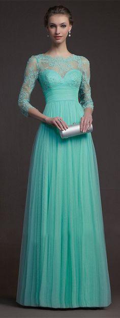 Prom dress sheer, tulle, prom dress long