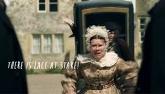 """Cranford. Imelda Staunton """"there is lace at stake!"""""""