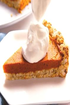 PERFECT Pumpkin Pie with Salted Cashew Crust by . can find Vegan pumpkin pie and more on our website. Vegan Pumpkin Pie, Cheesecake, Canning, Website, Desserts, Food, Cheesecake Cake, Tailgate Desserts, Deserts
