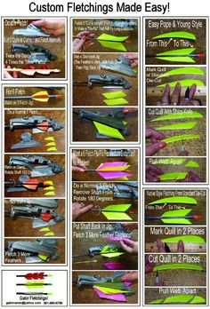 Trueflight Fletching Guide, get the right fletch for the right use every time. (sample list, there are hundreds more to consider)