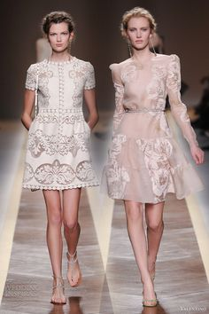 Valentino 2012 short dresses.