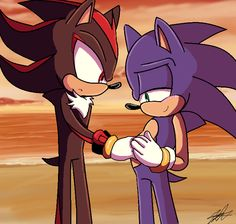 Our Heroes by Shadow The Hedgehog, Sonic The Hedgehog, Sonic Funny, Sonic And Shadow, Kawaii, Miraclous Ladybug, Deviantart, Cursed Images, Cute Pictures