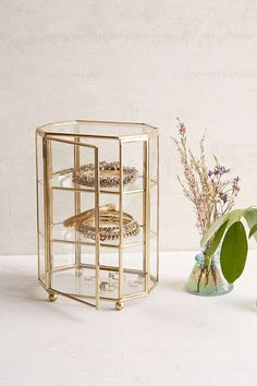 """Glass Octagon Display Box   Not a big """"dusting"""" fan, but I do love these enclosed glass display boxes."""