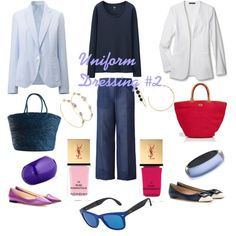 """The Ease of """"Uniform"""" Dressing II by tishjett on Polyvore featuring Uniqlo, Theory, Dsquared2, Roger Vivier, Jimmy Choo, Sensi Studio, Emilio Pucci, Alexis Bittar, Nest and Ippolita"""