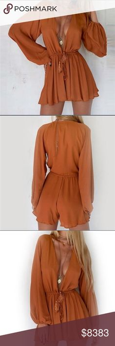⭐️COMING SOONThe Autumn Romper Item is new, direct from maker without any tags. PLEASE LIKE THIS LISTING FOR ARRIVAL UPDATES. PRICE WILL NOT EXCEED $45 Posh Garden Pants Jumpsuits & Rompers