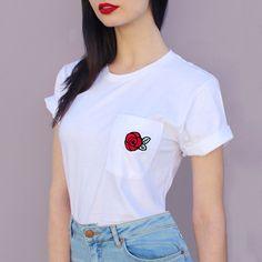 Red Rose Pocket Tee valfre.com