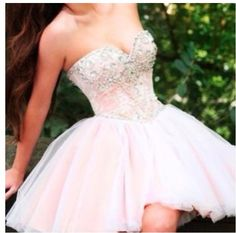 Light pink prom dress! Short and sweet. ☺