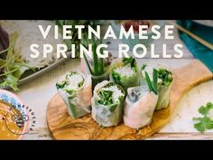 Vietnamese Recipes, Asian Recipes, Ethnic Recipes, Vietnamese Food, Vegetable Appetizers, Vietnamese Spring Rolls, Healthy Dishes, Healthy Eating, Food To Make