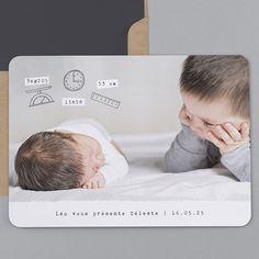 Geburtskarten Milo : original,fets,symbole,photos in trendy Baby Thank You Cards, Baby Cards, Kids Watercolor, Baby E, Foto Baby, Baby Memories, Baby Portraits, Album Design, Baby Family