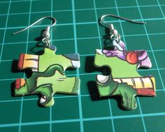 Puzzle Piece Earrings, maybe in a blue color for Autism Awareness month!