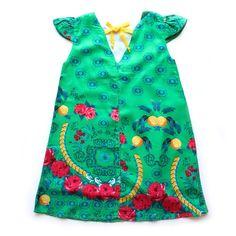 Vestido Trapézio Lima Limão - CutiCutiBaby - Roupas e Acessórios para bebês e crianças