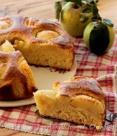 Torta del 3 ricotta e mele | Torta smemorina soffice ricetta il mio saper fare