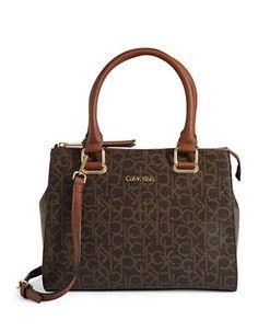 CALVIN KLEIN Calvin KleinHudson Logo Satchel. #calvinklein #bags #shoulder bags #hand bags #leather #satchel #