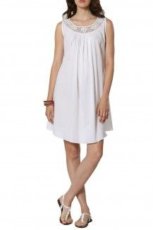 White Boat Neck Dress By Michelle Salins  Rs. 12,000