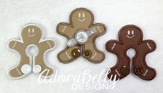 Gingerman Gtube Covers Gtube Pads Mic-Key Mickey Button Bamboo Velour G-tube Winter Snow Christmas Xmas Gingerbread Men by AdorabellyDesign on Etsy
