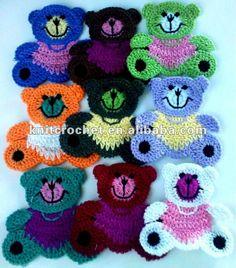 Crochet Teddy Bear appliqués, crochet Appliqués animaux (SR0010 A1-A9), vue crochet Teddy Bear appliqués, KCC Détails sur le produit à partir de Shangrao Crochet Knit Craft Factory sur Alibaba.com