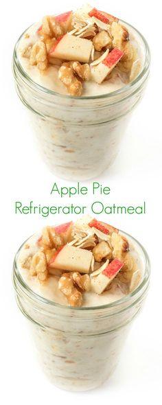 Apple Pie Refrigerator Oatmeal - The Lemon Bowl
