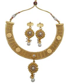 Its a South Indian Style Temple Jewelry with Goddess Laxmi Engraved on Ginni Coins. Size: 15 cms long & 7.0 cms wide necklace 6.2 cms long earring. Necklace has adjustable thread cord that fits to all neck sizes. | eBay!
