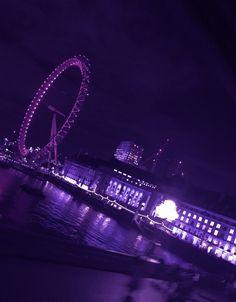 Purple Glow Aesthetic