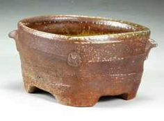 woodfired stoneware footed dish 18cm., Joseph Bennion Spring City, Utah
