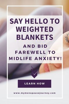 Weighted Blanket for Anxiety   At this time of our lives, anxieties (for whatever reason each of us may have) can make us feel restless... And it's hard to sleep at night with a clouded mind! Luckily, one of the most widely known uses of a weighted blanket is ANXIETY RELIEF! Discover the science behind weighted blankets and their ability to relieve anxiety! #WeightedBlanketForAnxiety #EaseAnxietyWithWeightedBlanket #RelieveAnxietyWithWeightedBlanket Weighted Blanket For Anxiety, Weighted Blanket Diy, Menopause Relief, Menopause Symptoms, Stress Relief Tips, Natural Stress Relief, Health News Articles, Health Tips, Natural Remedies For Menopause