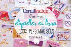 Commandez vos étiquettes en tissu personnalisées !!! Corailindigo - 100% made in France