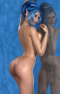 рисованные голые компьютерные девушки