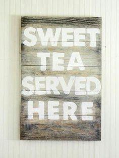 The Moose Café Always has sweet tea!