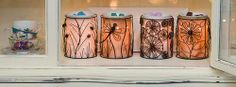 #MoreInfoMonday features the #SilhouetteCollection of #Wraps <3 Because the #whimsical additions to this line let #light shine through, creating textured #patterns! Ask me about placing an order or visit www.justawickaway.com #JustAWickAway #Scentsy #WarmerWraps #SilhouetteCollection #HomeDecor #Imaginative #Chic #ScentsyLife