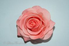 Peach Rose Hair Clip/ Brooch Real Touch Rose by GlamFloral on Etsy, $18.00
