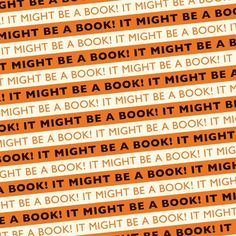 It Might Be A Book! Wrapping Paper Orange/Black