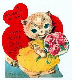 bouquet cat valentine