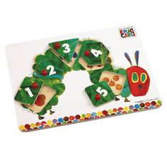 Kids will love this Very Hungry Caterpillar Peg Puzzle from Rainbow Designs!