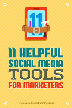 Social media and marketing go hand and hand. These 11 tools will help transform your marketing ideas to content that will better your social media identity. Marketing Tools, Business Marketing, Content Marketing, Affiliate Marketing, Social Media Marketing, Online Business, Marketing Strategies, Marketing Ideas, Marketing Technology
