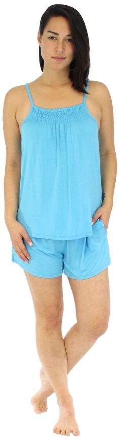Pajama Heaven Women's Bamboo Tank and Short Pajama Set