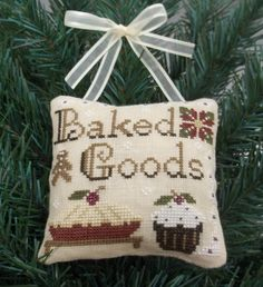 Baked Goods Ornament / Mini Pillow by luvinstitchin4u on Etsy, $12.99