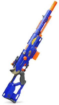 The newest style of long shot lots of clip ons good knock and sort of relyable aguably better for attack rather than fight. Uses only stream lines. - Nerf Gun - Ideas of Nerf Gun Nerf Mod, Rifle Nerf, Arma Nerf, Nerf Snipers, Cool Nerf Guns, Geek Toys, Nerf Party, Long Shot, Cool Toys