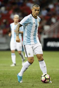 Leandro Paredes of Argentina in action during the International Test match between Argentina and Singapore at National Stadium on June 13, 2017 in Singapore.