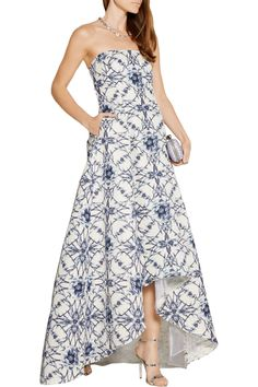 Shop on-sale Marchesa Notte Printed cotton and silk-blend faille gown. Browse other discount designer Dresses & more on The Most Fashionable Fashion Outlet, THE OUTNET.COM