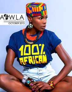 One of the posters announcing the African Fashion Week in Los Angeles, scheduled for October 2013.