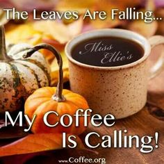 What I Like About Fall   The leaves are falling. My coffee is calling! #autumn #leaves #coffee