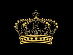 BIG SALE Crown1 Machine Embroidery Design 10x10cm. formats pes, hus, jef, dst, exp, vp3, vip, xxx. - $1.00 USD