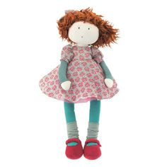 Fanette is a beautiful rag doll from Moulin Roty's Les Coquettes range. Come and see the full range of rag dolls at Little Tiger Gifts French Fabric, Gift Wrapping Services, Third Baby, Le Moulin, Pink Flowers, Gift Tags, Baby Dolls, Baby Gifts, Doll Clothes