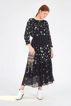 MIXED STARDUST MAXI SKIRT – Farm Rio Beloved Clothing, Farm Rio, Short Skirts, Maxi Skirts, Mixing Prints, Cotton Linen, Silk, Long Sleeve, Model