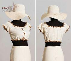 Top y falda a juego.  Moda 100% algodón natural peruano.