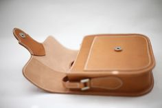 "Leather "" T "" Saddle Bag - Brown"