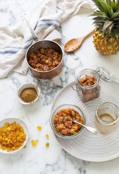 An easy pineapple & raisin chutney recipe