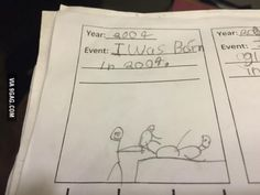 This child remembers his birth pretty accurately.