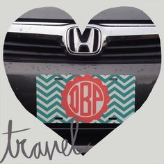 Show your car some love! Our super cute license plates are customizable! Create your own for $24 at Blue Abaco! Visit us at www.facebook.com/blueabaco or give us a call at 850-422-1857 for a phone order!